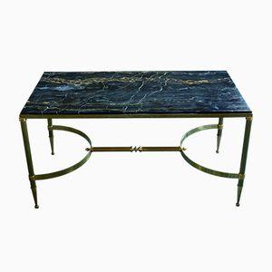 Mid-Century Bronze & Portoro Marble Coffee Table
