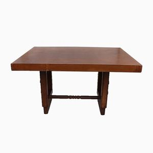 Vintage Oak Table by Charles Dudouyt, 1940s