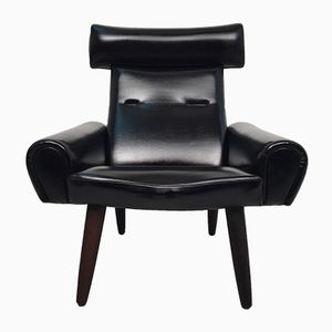 Vintage Leatherette Lounge Chair