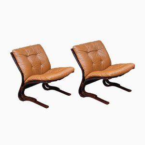 Norwegian Pirate Chairs by Elsa & Nordahl Solheim for Rykken, 1970s, Set of 2