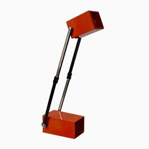 Vintage Tischlampe in Orange von Verner Panton für Louis Poulsen