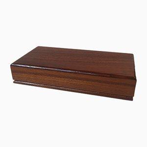 Caja danesa Mid-Century de teca, años 60