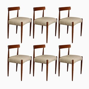 Mid-Century Dining Chairs by Arne Hovmand Olsen for Mogens Kold, 1960s, Set of 6