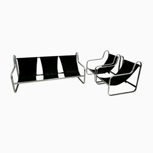 Italian Sofa & Armchairs, 1970s