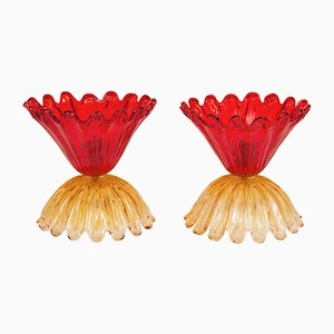 Murano Glass Table Lamps by Archimede Seguso, 1960s, Set of 2