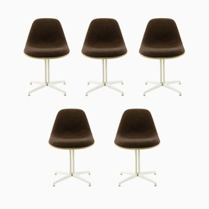 Chaises à Dossier Bas La Fonda Vintage par Charles & Ray Eames pour Herman Miller, Set de 5