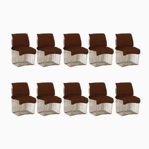 Stühle von Verner Panton für Fritz Hansen, 1960er, 10er Set