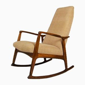 Mid-Century Danish Beech Rocking Chair, 1960s