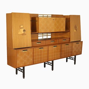 Vintage Teak & Brass Cupboard, 1960s