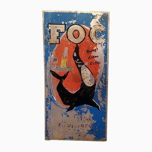 FOC Sodas Advertising Plate, 1960s