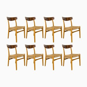 CH23 Chairs by Hans Wegner for Carl Hanson & Son, 1960s, Set of 8