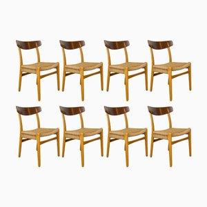 CH23 Stühle von Hans Wegner für Carl Hanson & Son, 1960er, 8er Set