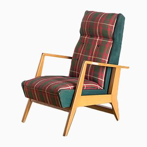 Französischer Sessel mit Gestell aus Buche, 1960er