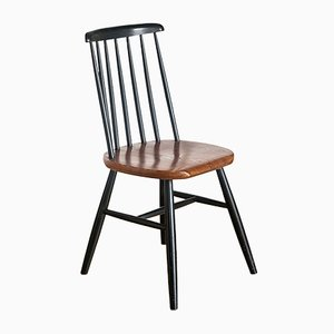 Vintage French Black Wood Chair, 1960s