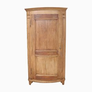 Solid Chestnut Corner Cabinet, 1850s