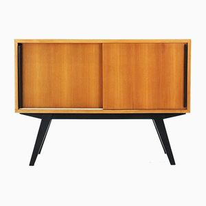 Ash Sideboard with Sliding Doors, 1950s