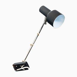 Lámpara de pared española vintage de hierro negro, años 70