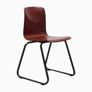 Chaise S23 Vintage en Acajou de Galvanitas