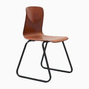 Vintage S23 Stuhl aus Eiche & Stahl von Galvanitas