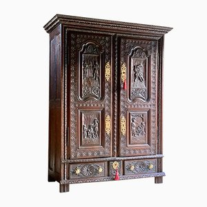 18th-Century French Oak Cupboard/Armoire, 1740s