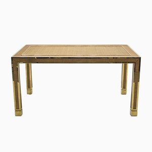 Bamboo & Brass Dining Table, 1970s