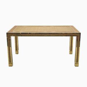Mesa de comedor de bambú y latón de Gabriella Crespi, años 70