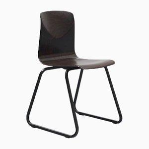 Chaise en Bois d'Ébène Marron Vintage de Galvanitas