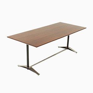 Mesa de comedor de madera de wengué de Alberto Rosselli para Arflex, años 60