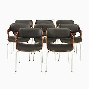 Chaises Vintage par Eugen Schmidt, 1965, Set de 8