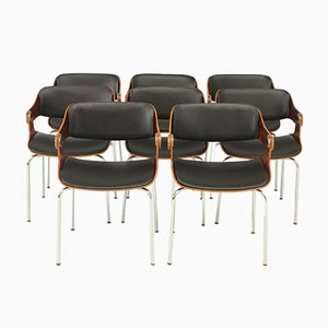 Vintage Chairs by Eugen Schmidt, 1965, Set of 8