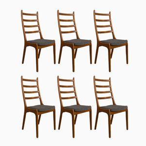 Stühle aus Teak von Kai Kristiansen für Korup Stolefabrik, 1960er, 6er Set