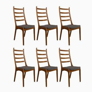 Teak Chairs by Kai Kristiansen for Korup Stolefabrik, 1960s, Set of 6