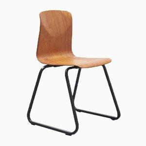 Vintage S23 Stuhl aus Buche in Anthrazit von Galvanitas
