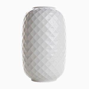 Weiße Vintage Vase aus Biskuitporzellan von Homas