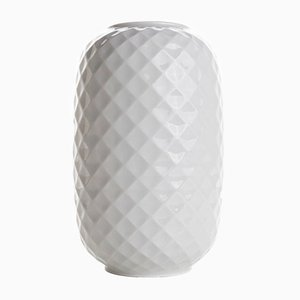 White Vintage Biscuit Vase from Homas