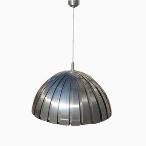 Lampada a cupola in acciaio di Elio Marinelli per Martinelli Luce, anni '70