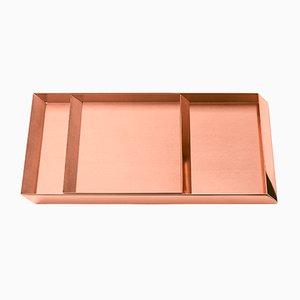 Axonometry Trays in Copper by E. Giovannoni for Ghidini 1961, Set of 2