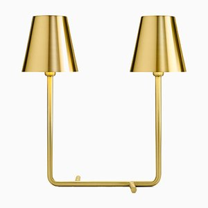 Brass Bio Lamp with Two Lights by A. Cibic for Ghidini 1961