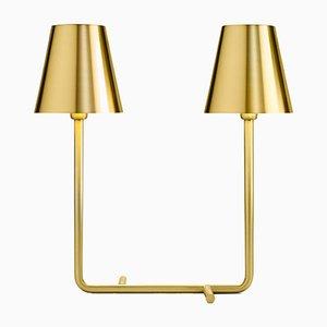 Lámpara Bio de latón con dos puntos de luz de A. Cibic para Ghidini 1961