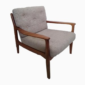 Vintage Cherry Armchair from Straub, 1970s