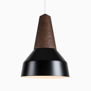 Eikon Basic Black Pendant Lamp in Black Oak from Schneid Studio