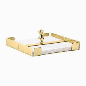 Omini The Walkman Napkin Tray in Brass by S. Giovannoni for Ghidini 1961