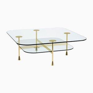 Table Basse Da Vinci en Verre par R. Hutten pour Ghidini 1961