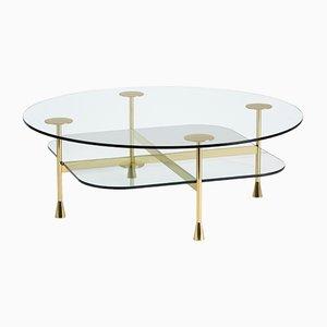 Mesa de centro Da Vinci de vidrio de R. Hutten para Ghidini 1961