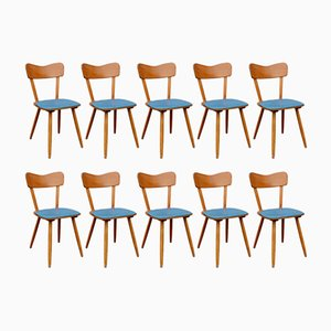 Vintage Bistro Chairs, Set of 10