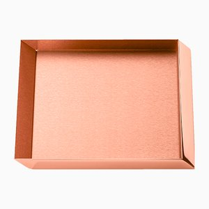 Axonometry Small Squared Tray in Copper by E. Giovannoni for Ghidini 1961