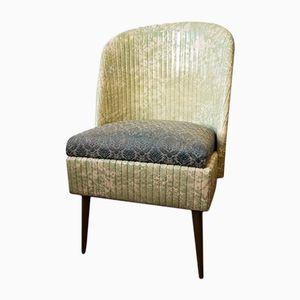 Green Vinyl Cocktail Chair, 1950s