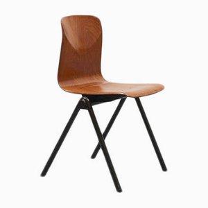 Brauner Mid-Century S30 Stuhl aus Eiche von Galvanitas