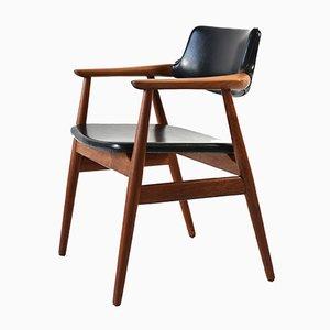 Solid Teak Armchair by Erik Kierkegaard, 1960s