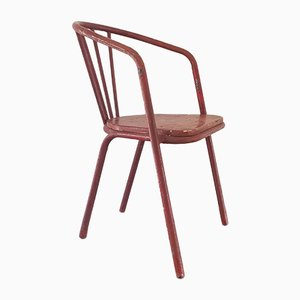 Painted Steel & Wood Chair by Robert Mallet Stevens, 1930s